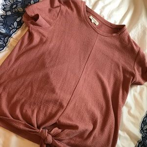 Madewell knot tie t-shirt